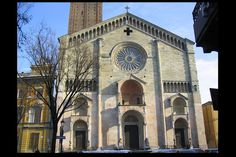 ROMANESQUE ARCHITECTURE, Italy - The Cathedral of Piacenza, 1122-58. The Facade has typical of Lombardo-Rhenish style.
