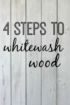 4 Steps to Whitewash Wood is part of Wooden pallet projects - A DIY tutorial explaining how to whitewash wood in 4 easy steps Creating a vintage feel for your home with whitewashing How to whitewash wood walls Wooden Pallet Projects, Wooden Pallet Furniture, Diy Furniture, Diy Projects, Wooden Pallet Signs, Pallet Wood, Skid Pallet, Wood Wood, Weathered Wood