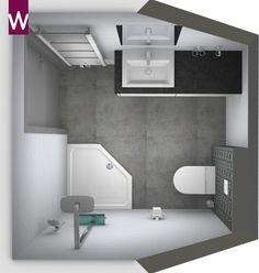 Kleine badkamer onder schuin plafond