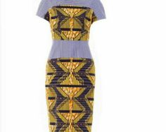 Yellow Ankara Puzzle Dress Ankara Dress Yellow by Zizibespoke