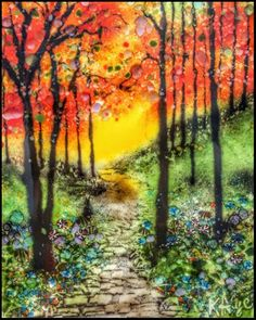 "Daily Paintworks - ""Summer Sunrise"" - Original Fine Art for Sale - © Kelly Alge"