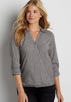 crosshatch surplice top | maurices