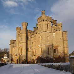 Duns Castle in the snow #winterwedding #scottishcastle #weddingvenue