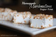 Homemade Marshmallows? Yes, please! Fun to make and Sugar-free to boot!