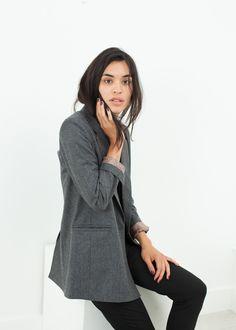 Boyfriend Jacket in Grey