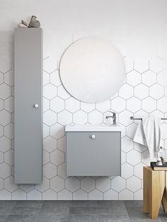 Badrum inspiration - Liten badrumsmöbel - Compact grå