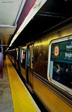 NYC Subway B train - by Misaki