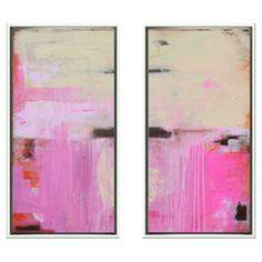 Sweet Emotion Diptych Framed Canvas Art