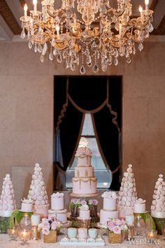 #DessertTablescape Nadia and Co. | WedLuxe Magazine