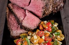 Za'atar Rump Roast With An Exotic Tomato Salad - Make delicious beef recipes easy, for any occasion Tomato Salad, How To Make Salad, Food Styling, Beef Recipes, Feta, Exotic, Roast, Easy Meals, Meal Ideas