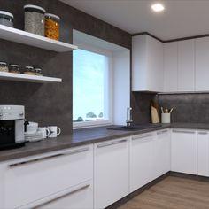 Atypická kuchynská linka na mieru. Dizajn kuchyne a nábytku na mieru.