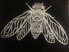Cartoon Drawing Tips Cicada, paper cut, : Art Cicada Tattoo, Skeleton Hand Tattoo, Lily Flower Tattoos, Scratch Art, Witch Art, Sister Tattoos, Fabric Painting, Watercolor Paintings, Drawing Tips