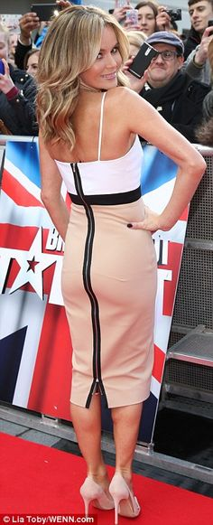 Amanda Holden in a Victoria Becham dress #fashion #bgt # 2014