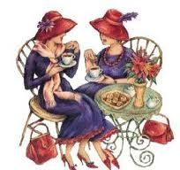 red hatters having tea http://www.pinterest.com/dell41/red-hats-and-the-ladies-too/