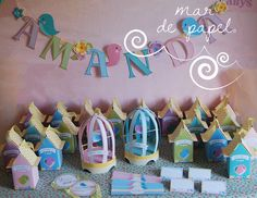 MAR DE PAPEL: El cumple 2 de Amanda: colores suaves, flores y pa...