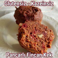 Glutensiz Pancarlı Fincan Kek Tarifi