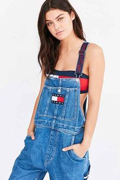 Shop Urban Outfitters' collection of overalls. coveralls and jumpsuits for women. Find a variety of styles of overalls like cropped, white, denim & utility. 90s Fashion Overalls, Overalls Outfit, Denim Overalls, Dungarees, Denim Skirt, Jeans, Summer Outfits For Teens, Cute Teen Outfits, Retro Outfits
