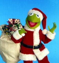 Kermit as Santa Clause Kermit And Miss Piggy, Kermit The Frog, Kermit Face, Christmas Cartoons, Christmas Humor, Merry Christmas, Muppets Christmas, Christmas Town, Christmas Countdown