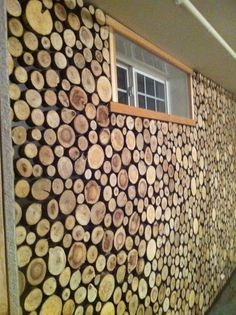 interior logs for walls wall by barnwood naturals was created using timber round end. Black Bedroom Furniture Sets. Home Design Ideas