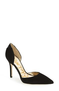 Free shipping and returns on Sam Edelman 'Delilah' Suede d'Orsay Pump (Women) at Nordstrom.com. An instep-baring d'Orsay cut adds to the allure of a pointy-toe pump cast in gorgeous suede.