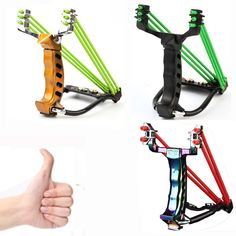 2 Rubber Bands Folding Wrist Slingshot Catapult Outdoor Games Powerful Hunting Bow & Arrow Sling ShotTools Hunting Sling shot(China (Mainland))