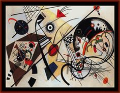 Throughgoinog Line - Kandinsky Cross Stitch Pattern by Cross Stitch Collectibles