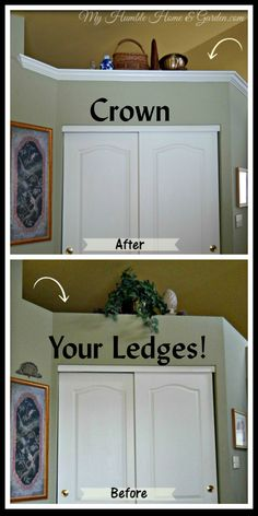 Add Crown Molding to your ledges!  Follow my master bath makeover.  Paint is next! on My Humble Home and Garden.com