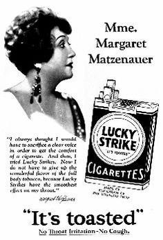 Lucky Strike. Don draper's famous Ad!~