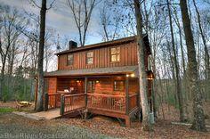 2 Bedroom Blue Ridge N Georgia Cabin Rentals Bunkhouse Cabin