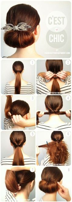 . Volumized low bun