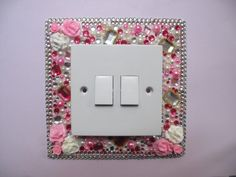Tacky rhinestone light switch