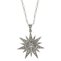 2028 Constellations Silver-Tone Crystal Star Pendant Necklace