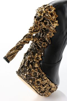 Leather Butterfly Embroidery Shoes Fall/winter Alexander McQueen EhNAeRF4nk