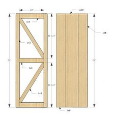 Beau Plans For A Sliding Barn Door