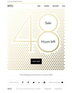 Product Sale Email Design from Ditto - Really Good Emails
