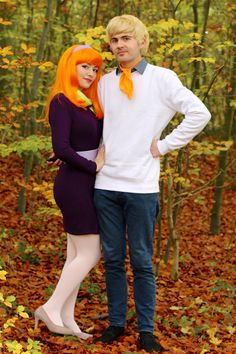 Fred & Daphne Scooby Doo homemade costumes