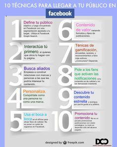10 ideas para llegar a tu público en Facebook #infografia