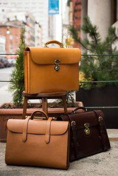 Trunk show tomorrow and Saturday. Trunk show tomorrow and Saturday. Trunk show tomorrow and Saturday. Small Luggage, Leather Projects, Leather Briefcase, Luxury Bags, Leather Working, Laptop Bag, My Bags, Leather Craft, Backpack Bags