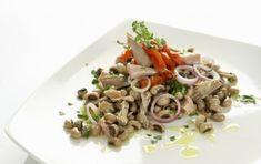 Σαλάτα με φασόλια μαυρομάτικα - iCookGreek Salad Bar, Salads, Spaghetti, Food And Drink, Meat, Chicken, Ethnic Recipes, Greek, Drinks