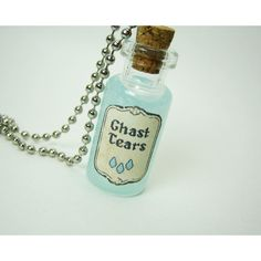 Ghast Tears 2ml Glass Vial Glass Bottle Necklace Minecraft Inspired Nether ($12) found on Polyvore