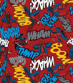 Marvel Spiderman Editorial, Fleece, Red, inch Width, Fabric by the Yard Comic Book Characters, Comic Book Heroes, Fun Diy Crafts, Arts And Crafts, Retro Background, Amazing Spiderman, Fleece Fabric, Marvel Comics, Superhero
