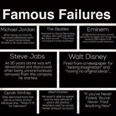 Famous Failures- Michael Jordan, Walt Disney, Steve Jobs, Oprah...