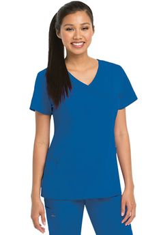 """KD110 by Barco Uniforms Women's """"Kellie"""" Scrub Top # 8102 Junior Fit 3 Pockets Mock Wrap Style Princess panel style lines Shirred pocket details Fitted Back Medium length: 25.5"""" 50% Polyester/50% Recycled Polyester Sizes: XXS-5XL Available in colors: Cherry, Purple Dream, White, Black, New Royal, Indigo, Jazzy Pink, Topaz Blue, and Urban Grey. Buy Now: http://www.nationalscrubs.com/KD110-Barco-Uniforms-Womens-mock-wrap-top-p/bc8105.htm"""