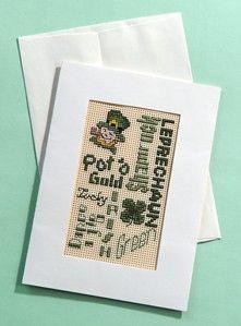 Craft Ideas : Projects : Details : st-patricks-cross-stitch-greeting-card