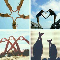 Fun and Creative Beach Photography Ideas, Leuke en creatieve strandfotografie-ideeën, # beach Bff Pics, Bff Pictures, Best Friend Pictures, Friend Photos, Funny Group Pictures, Cute Bestfriend Pictures, Sister Photos, Beach Pictures, Family Pictures