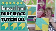 """Quilt Block: Homeward Bound Quilt Block Tutorial - Alanda Craft So what you are going to need for the Homeward Bound quilt block is: 1 – 6″ square color 1 1 – 5½"""" square color 1 1 – 6″ square color 2 1 – 5½"""" square color 2 Watch Video tutorial"""