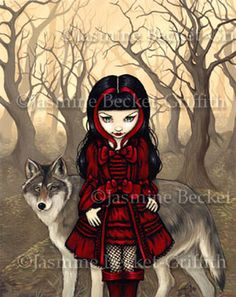 Jasmine Becket-Griffith - Red Riding Hood In Autumn