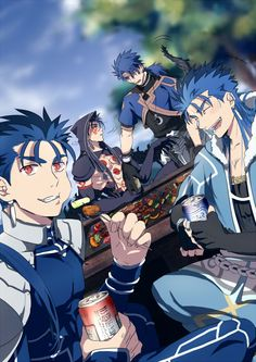 What's happen with thoose behind guy ? Cu Chulainn #Prototype #StayNight #GrandOrder