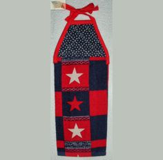 hanging kitchen towel tie straps padded machine quilted top 3 STARS A or B 4th