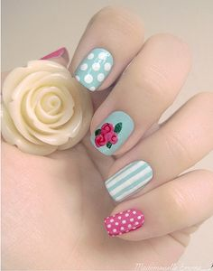 Flowers do not always open, but the beautiful Floral nail art is available all year round. Choose your favorite Best Floral Nail art Designs 2018 here! We offer Best Floral Nail art Designs 2018 .If you're a Floral Nail art Design lover , join us now ! Fancy Nail Art, Dot Nail Art, Floral Nail Art, Fancy Nails, Cute Nails, Pretty Nails, Gorgeous Nails, Simple Nail Art Designs, Nail Designs